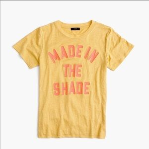 J Crew Made In The Shade Linen Graphic Tee XS